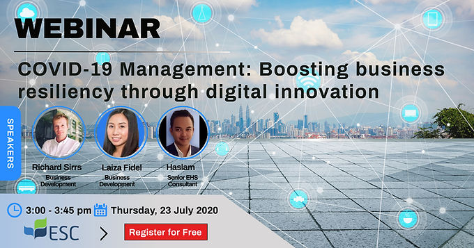 COVID19 Management: Boosting business resiliency through Digital Innovation
