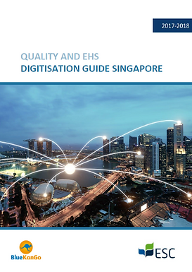 BlueKanGo and ESC publish a Quality and EHS digitization guide for Singapore