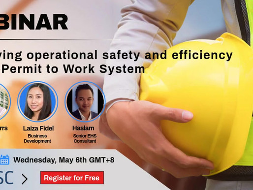 WEBINAR: Improving operational safety and efficiency with e-Permit to Work System