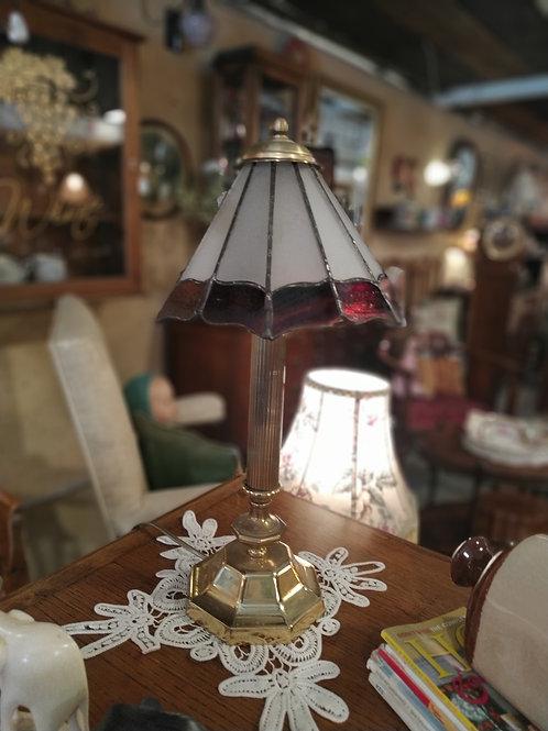 מנורה ברונזה עם אהיל ויטראז'