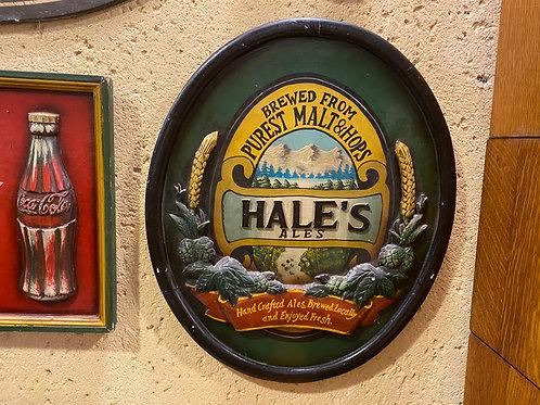 שלט בירה מעץ