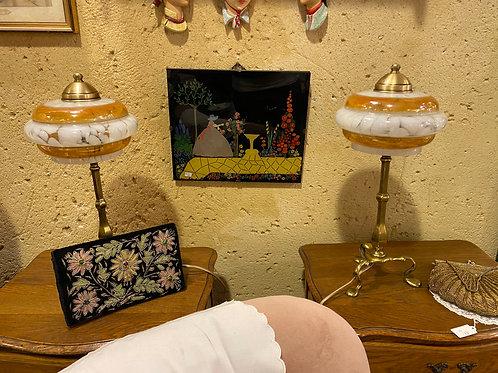 זוג מנורות לחדר שינה