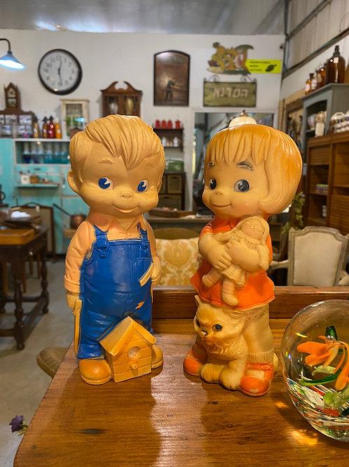 זוג בובות גומי משנות ה-50