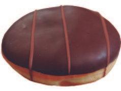 Donut negro relleno manjar