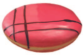 Donut rosa relleno avellana