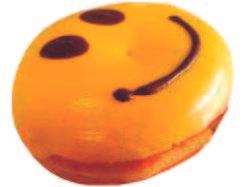 Donut carita feliz relleno manjar