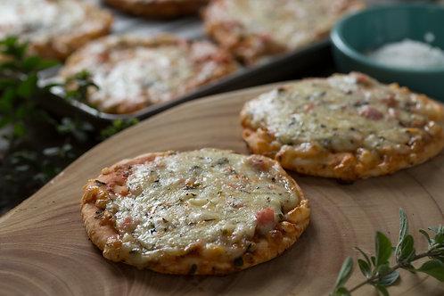 Pizzetas jamón queso