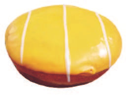 Donut amarillo relleno pie de limón