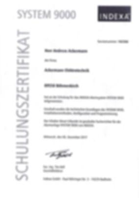 Indexa-Zertifikat