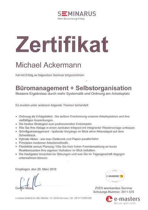 Büromanagement und Selbstorganisation