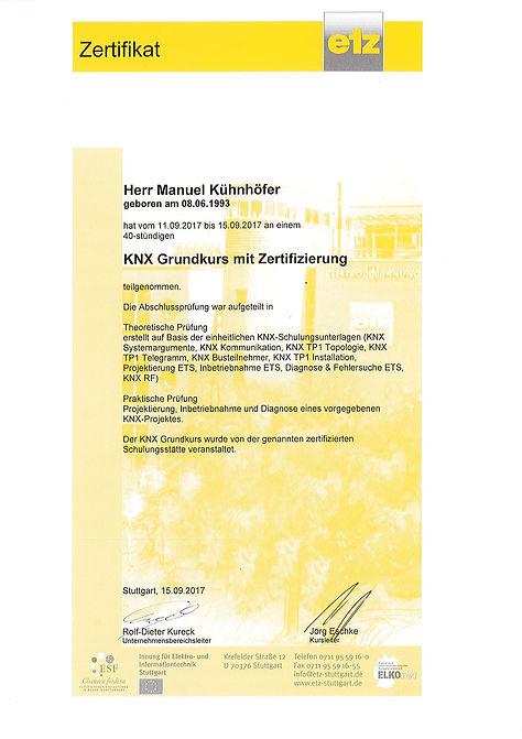KNX-Zertifizierung