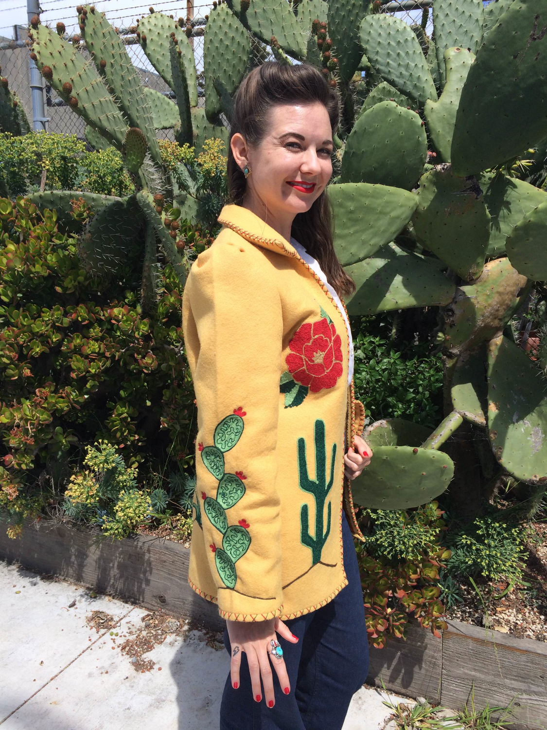 Chainstitch embroidered jacket