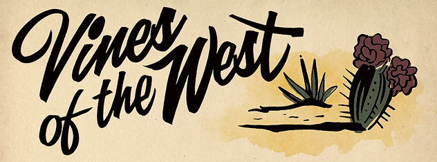 Vines of the West logo by golden west sign arts