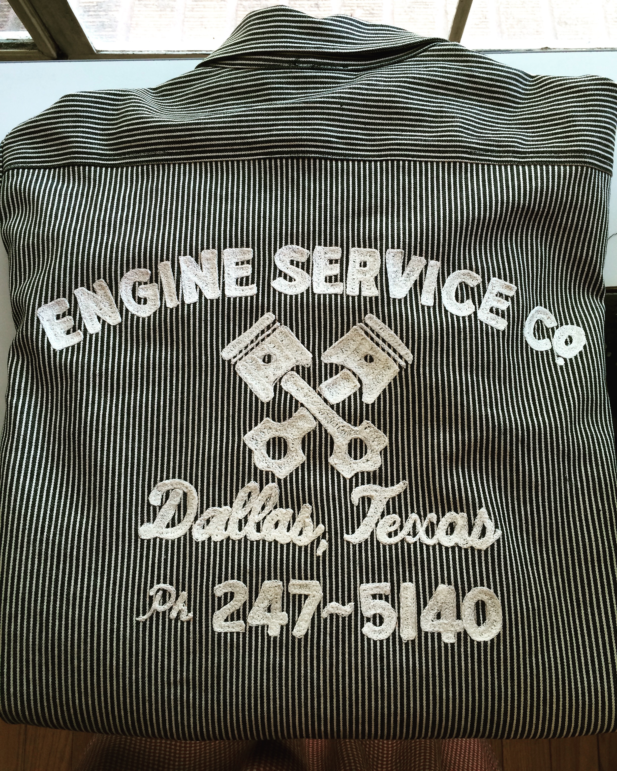 Auto shop jacket embroidery
