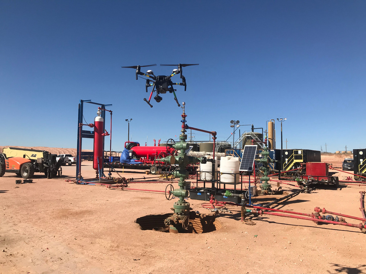 Image capture of wellhead