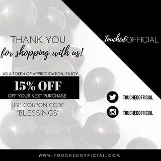 Customer appreciation flyer for _touched