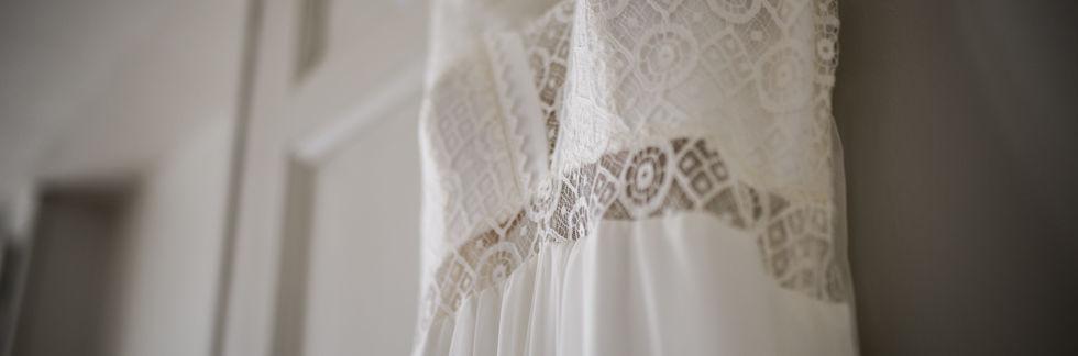 photo détail de la robe de mariage