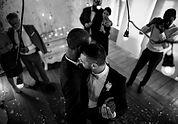 Gay Couple on their Wedding - horsebox bottle bar