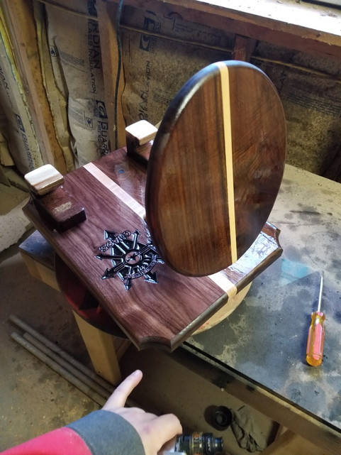 Hat w/ Spurs, Walnut and maple