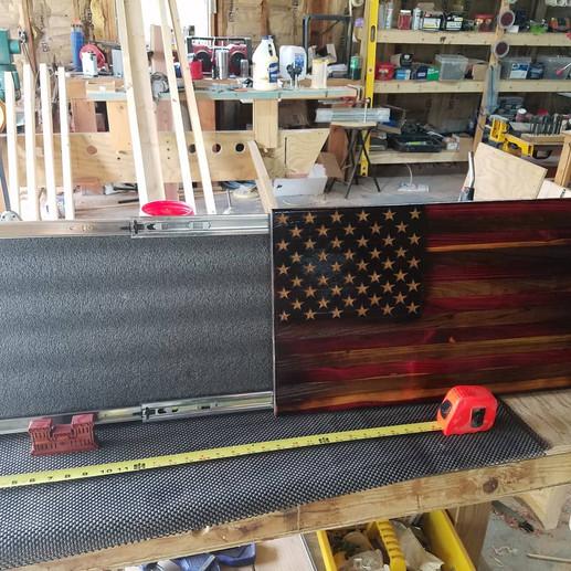 28 inch flag box, cedar / poplar