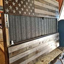 """Rifle box, 36"""" flag"""