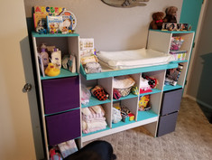 Cube storage / changing table