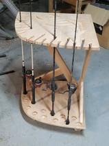 Cherry custom fishing rod holde
