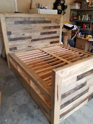 King Bed Storage w/ barn door