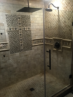Custom Travertine Shower