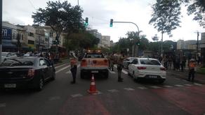 Acidente deixa pedestre ferido no Centro de Niterói