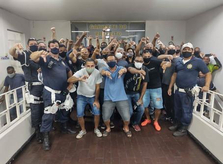 Guardas de SG protestam e ameaçam paralisação