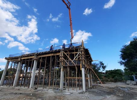 Estrutura da Estação Elevatória de Esgoto do Laranjal está quase pronta