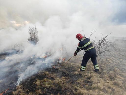 Дві пожежі сталися на відкритій території, вогонь охопив загалом 9 гектарів