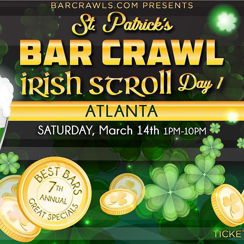 Atlanta's Biggest Annual St. Patrick's Bar Crawl Party Day 1