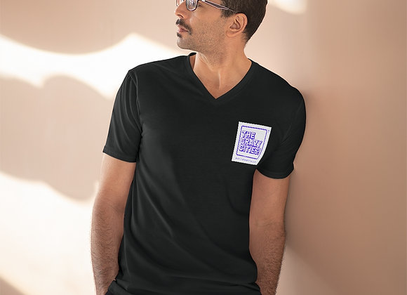 Men's Lightweight V-Neck Tee TheCrazyCities logo 2019