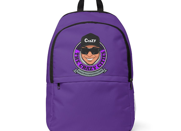 Unisex Fabric Backpack Purple