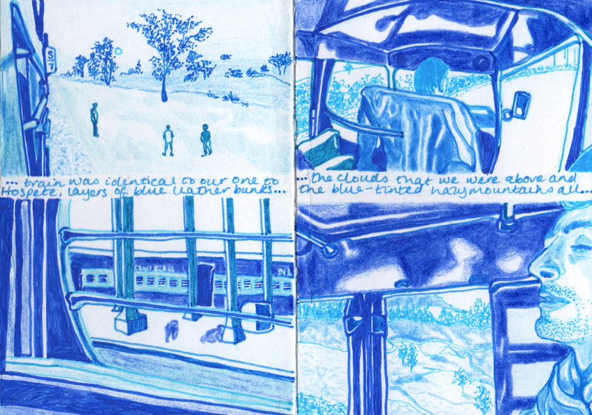 INDIA BLUE ZINE, PAGES 5 AND 6