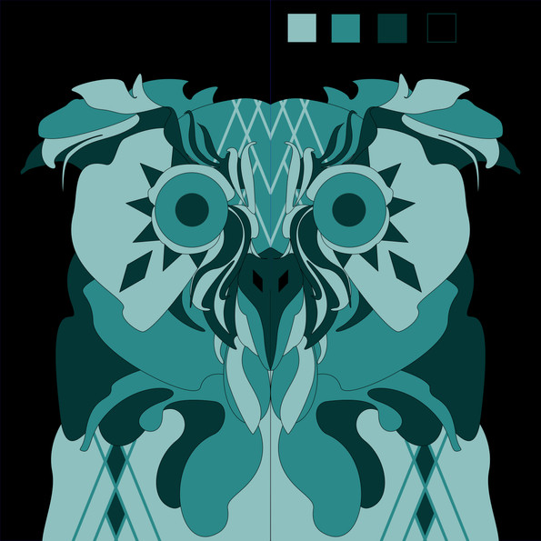 THE OWL BARN, wip of digital design and colour scheme for upcoming giant barn wall mural