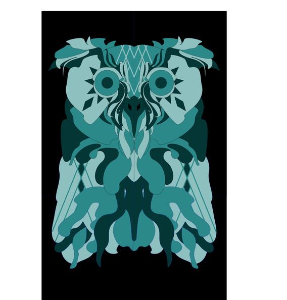 LARGE BARN WALL OWL DESIGN