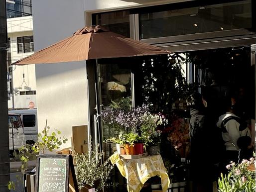 バレエブランアート福岡赤坂スタジオの通りに新しくお花屋さんがOpen🌸