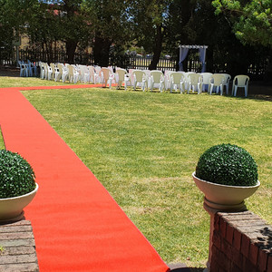 Red Carpet in place