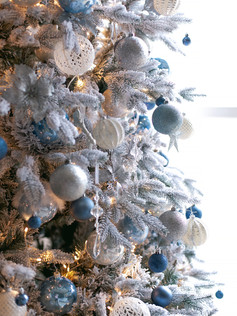 7ft Flocked Artificial Christmas Tree Fairytale