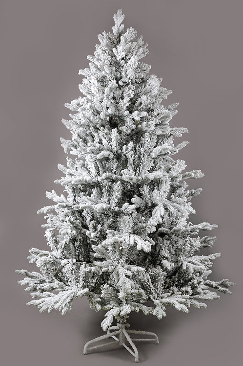 7ft Flocked Artificial Christmas Tree Fairytale