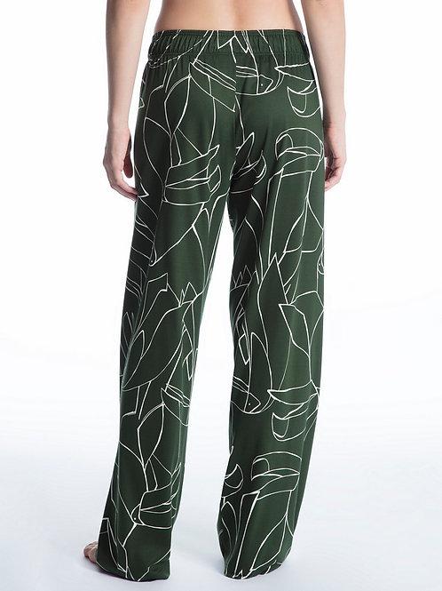 Pantalon détente Coton et Modal (29250) - Vert - CALIDA