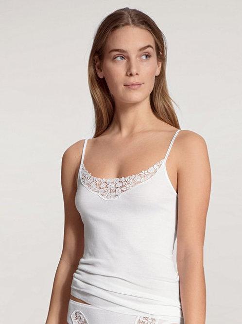 Feminin (11451) - Top fines bretelles Coton - Blanc - CALIDA