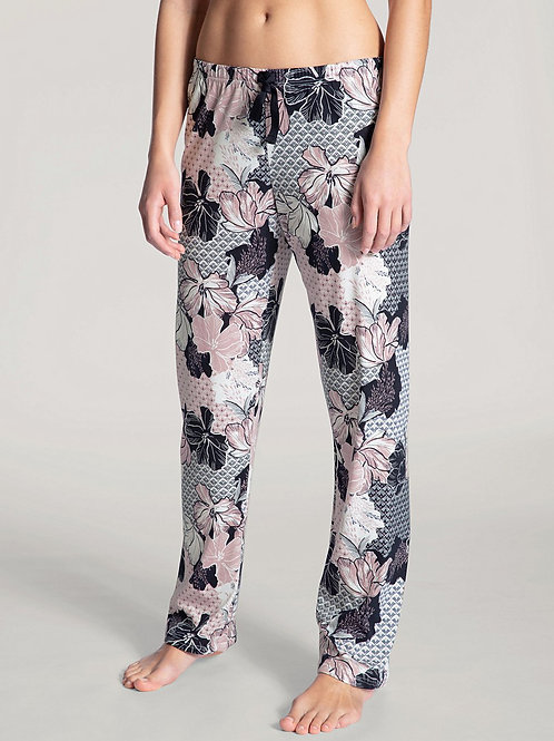 Pantalon détente coton (29652) - fleuri - CALID