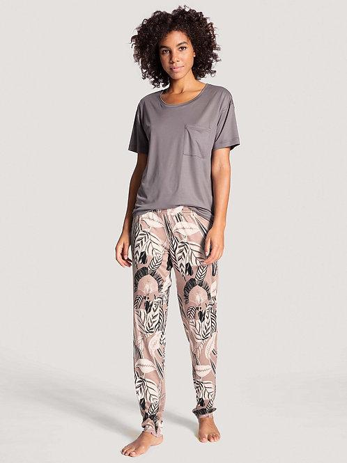 Pantalon détente Tencel/Lyocell - Compostable (29850) - Mauve - CALID