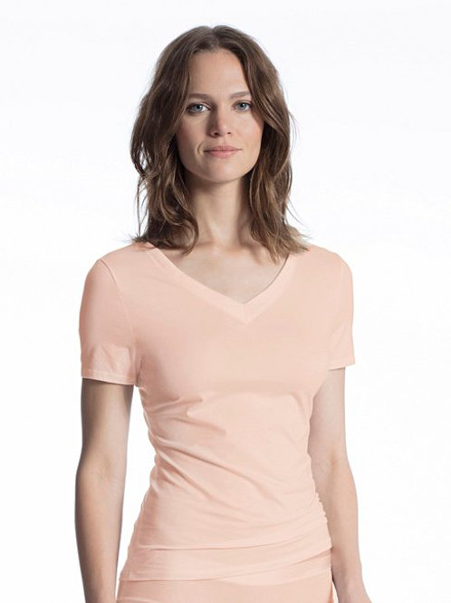 Cate - Tee-shirt manches courtes - Poudre - CALIDA