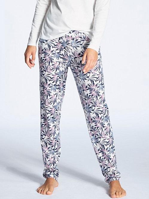 Pantalon détente coton/modal (29856) - Fleuri - CALIDA