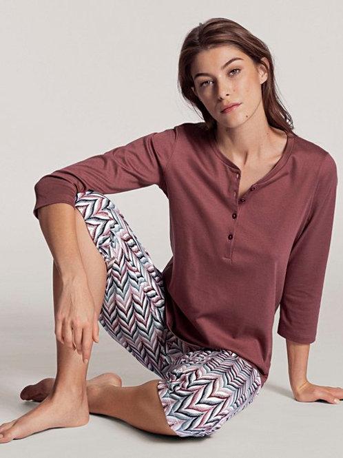 Pyjama 3/4 en coton (40851) - CALIDA